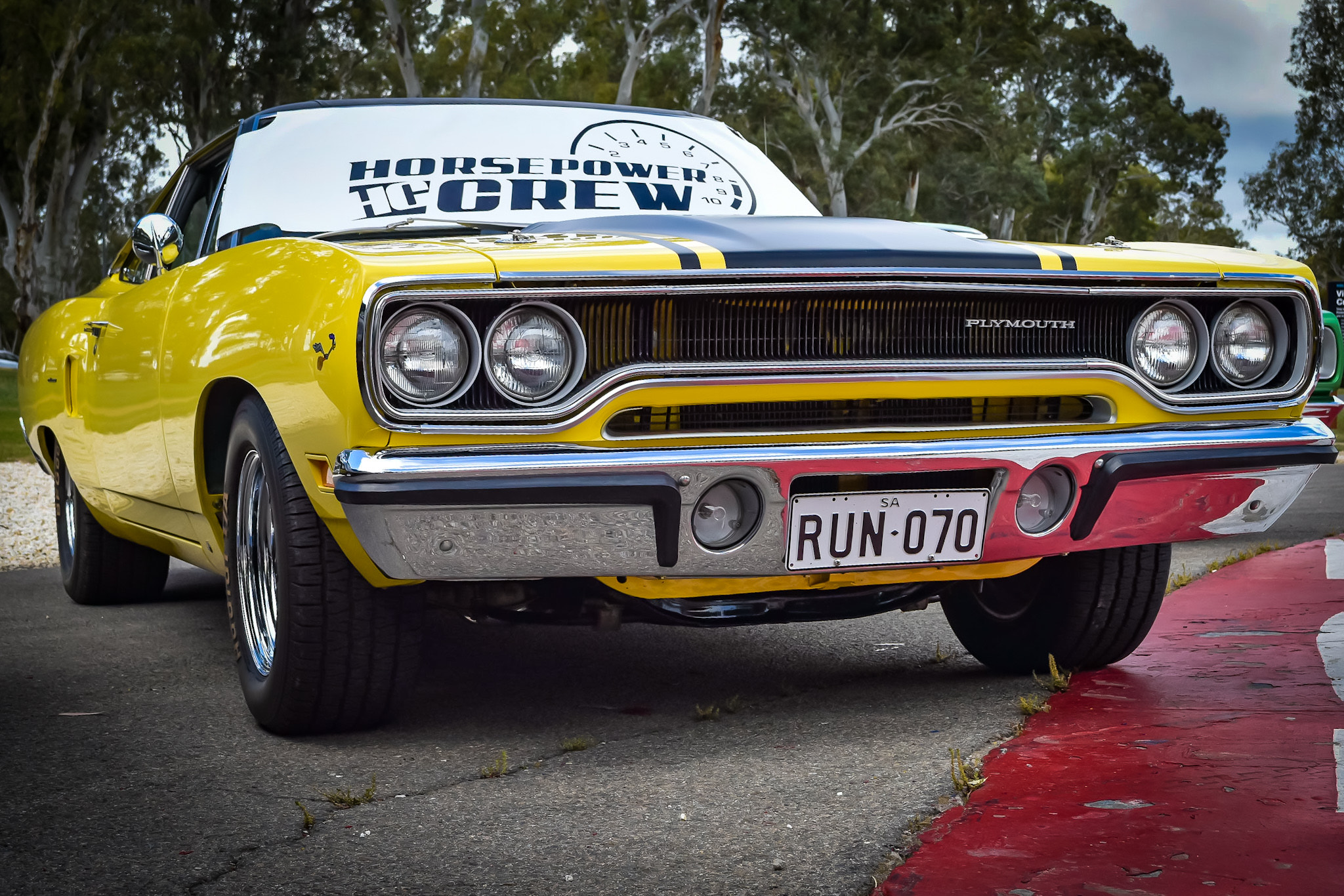 windscreen-cover-rev-gauge-classic-size-white-and-black-Road-runner