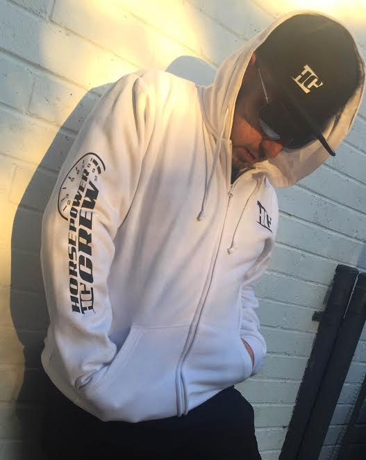 Hoodie-White-Black-Featuring-HC-Logo-Hat